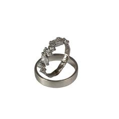 Princess wedding rings