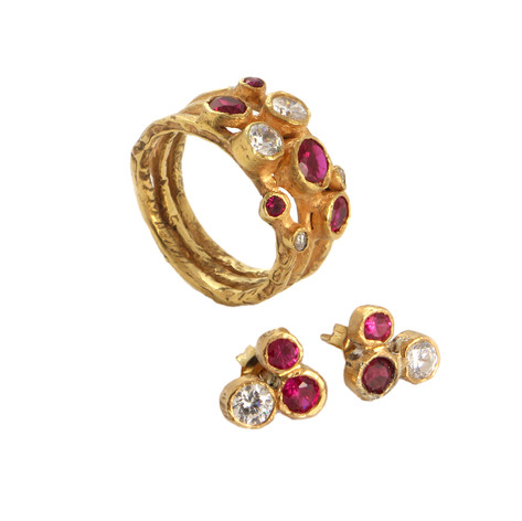 EMMA ring and earrings set