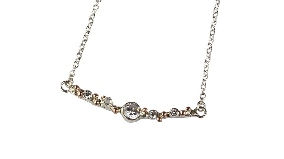 LIZA necklace with rose gold