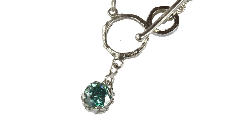 ARABELLA necklace with blue Moissanite