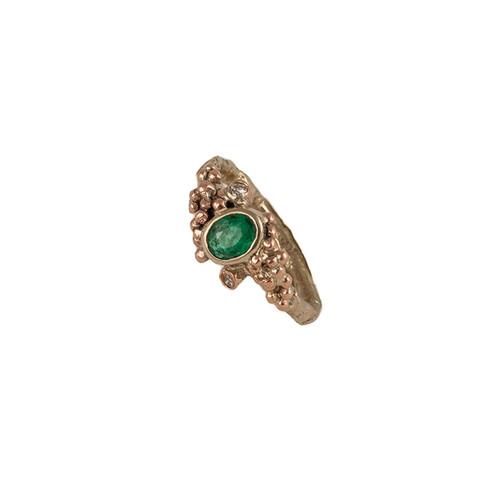 Engagement ring Emerald