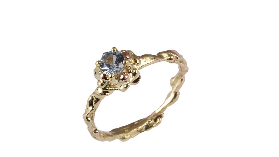 ELIANA ring with blue Aquamarine