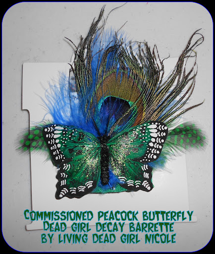 Peacock Child Barrette