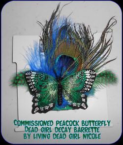 Peacock Child Barrette