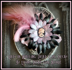 Ghostly Victorian Barrette