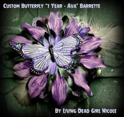 Birthday Girl Butterfly Barrette