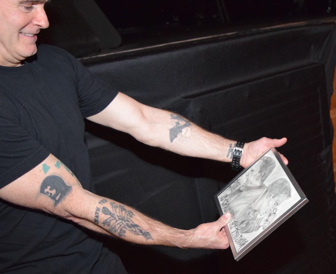 Henry Rollins Admiring My Portrait
