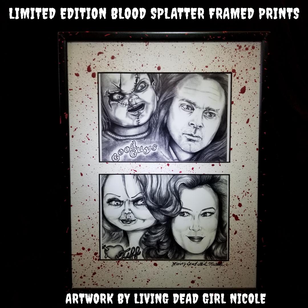 Chucky & Tiffany Blood Splattered