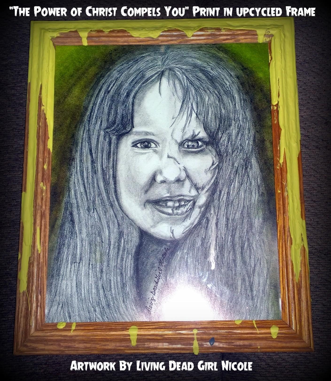 Regan Exorcist in upcycled frame