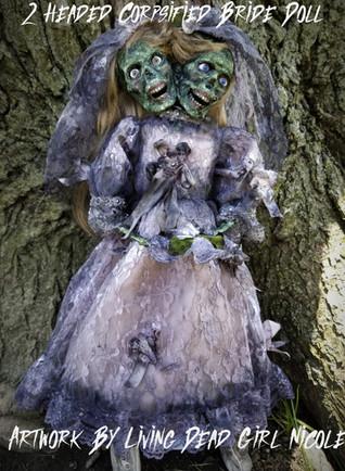 2 Headed Zombie Bride Doll