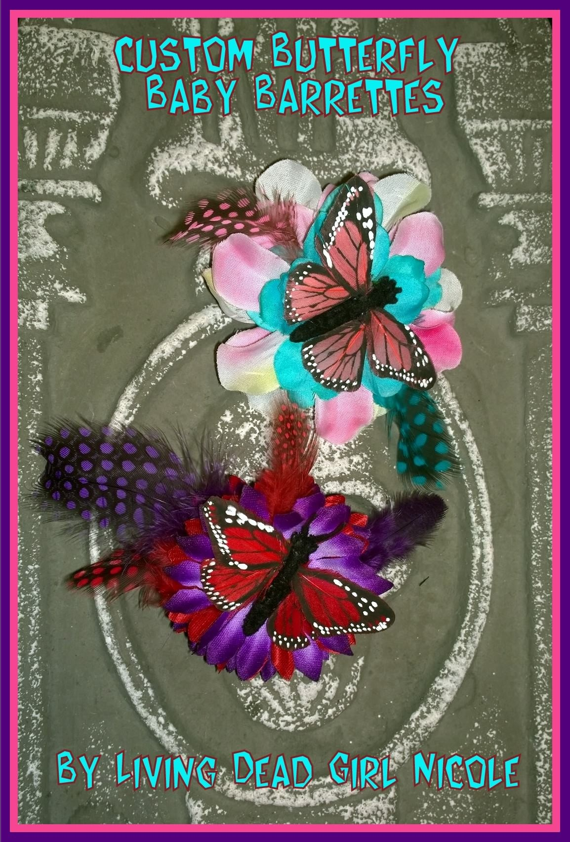 Butterfly Baby Barrettes
