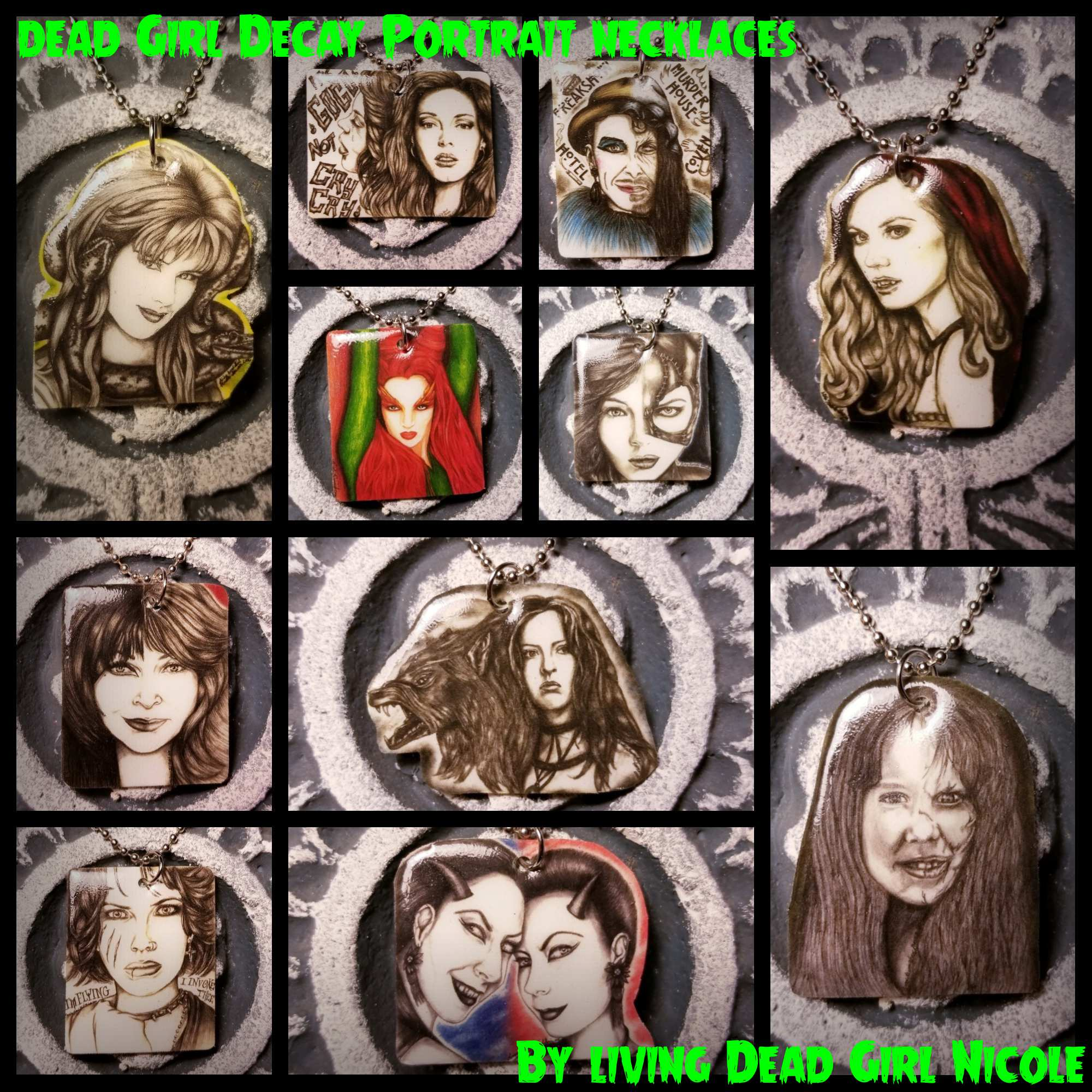 Portraits On Necklaces 2