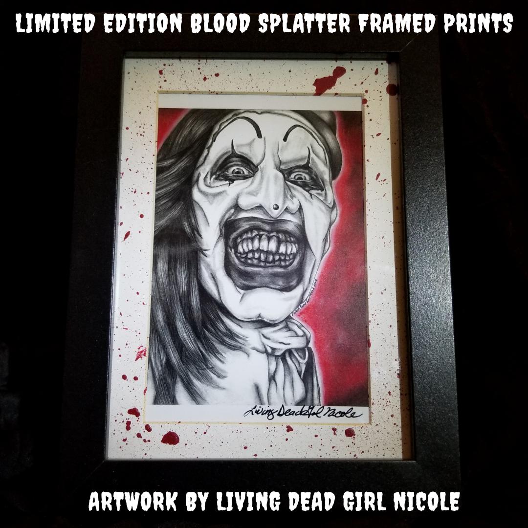Terrifier Art The Clown Blood Splat