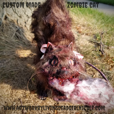 Zombie Cat by Living Dead Girl Nicole