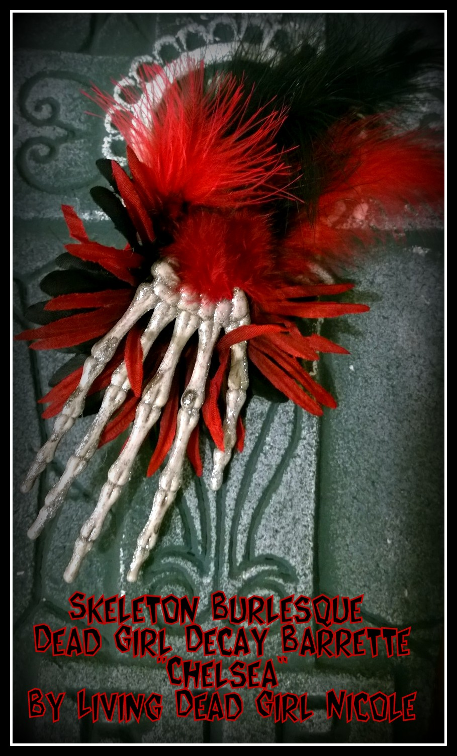 Skeleton Burlesque Barrette