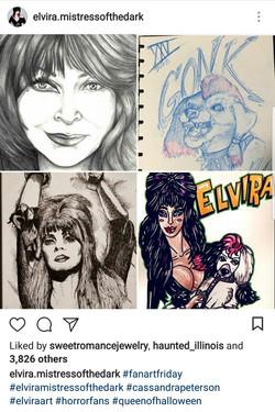 Elvira Fan Art Post
