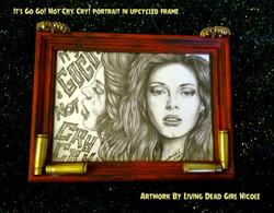 Its Go Go Not Cry Cry Custom Framed Print