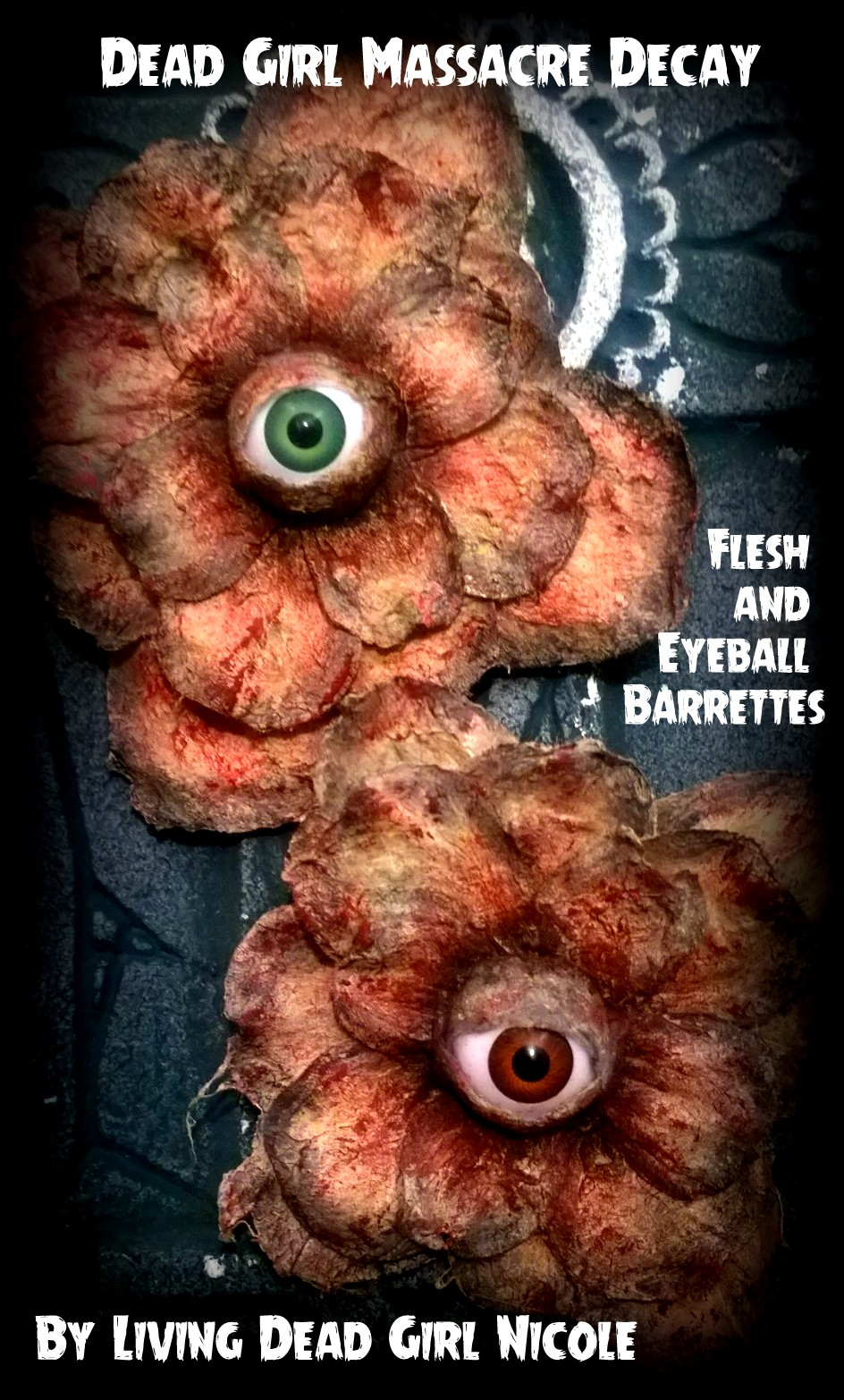 Eyeball Bloody Flesh Flower Barrette