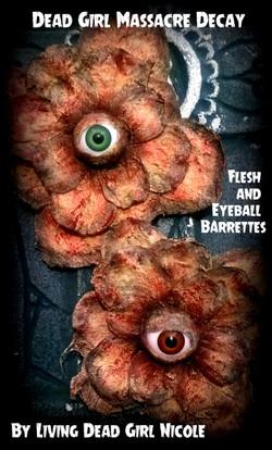 Eyeball Bloody Flesh Flower Barrette