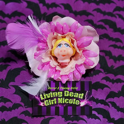 Miss Piggy Barrette By Living Dead Girl