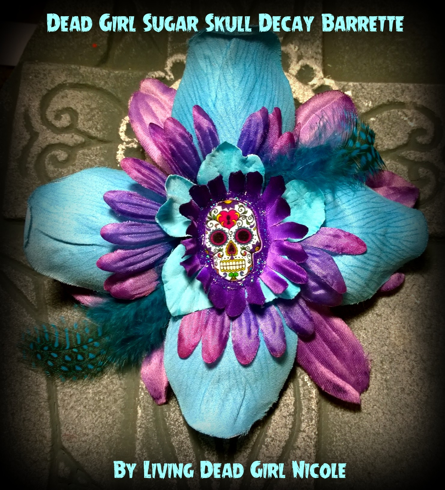 Sugar Skull Burlesque Barrette