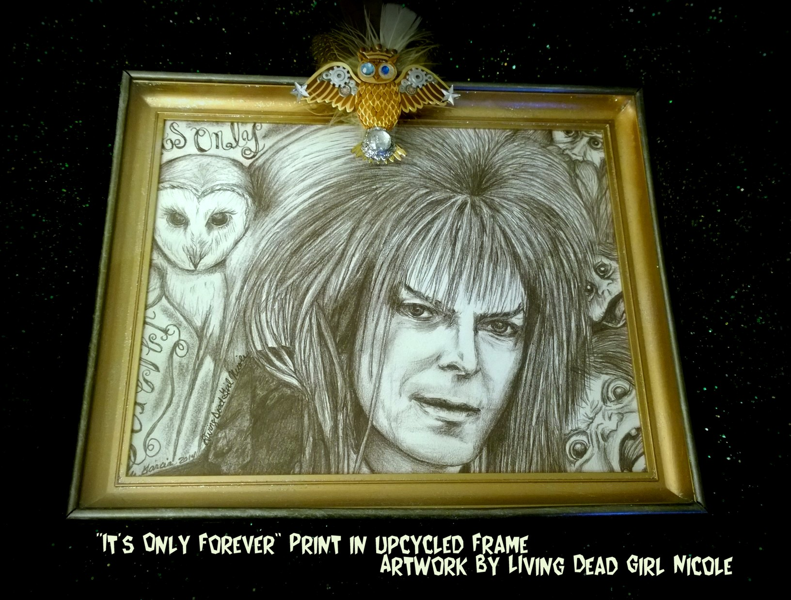 Jareth Labyrinth in upcycled frame