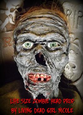 Full Size Zombie Head