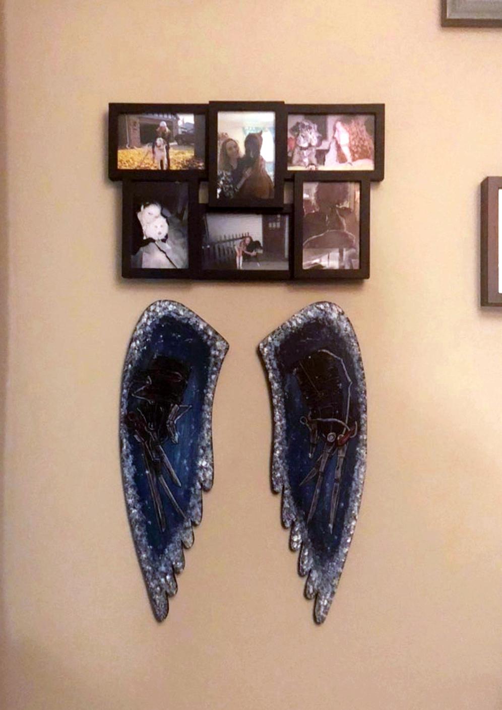 Edward Scissorhands Painted Wings