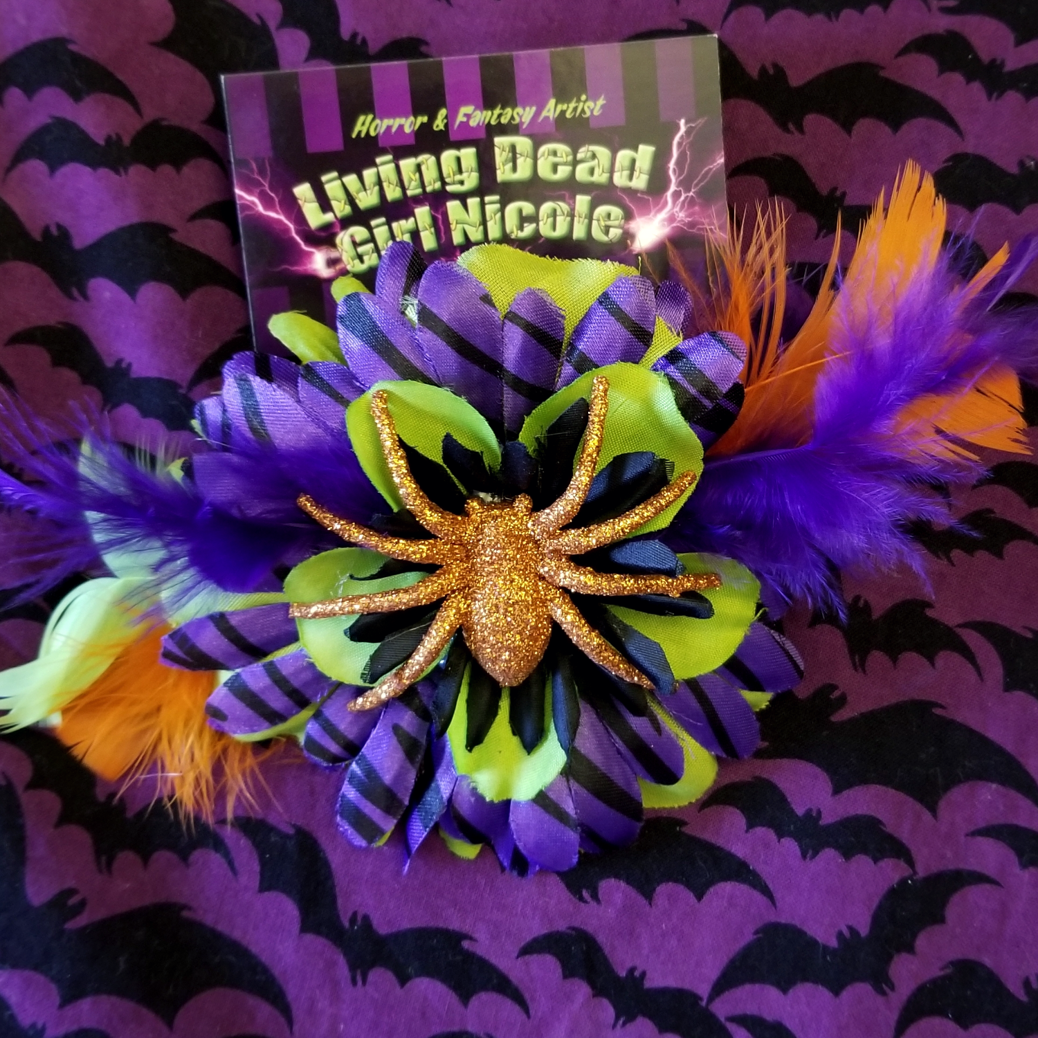 Living Dead Girl NIcole Spider Barrette.