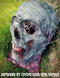 CC Zombie Head Halloween Horror Prop by