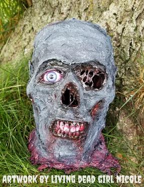 CC Zombie Head by Living Dead Girl Nicol