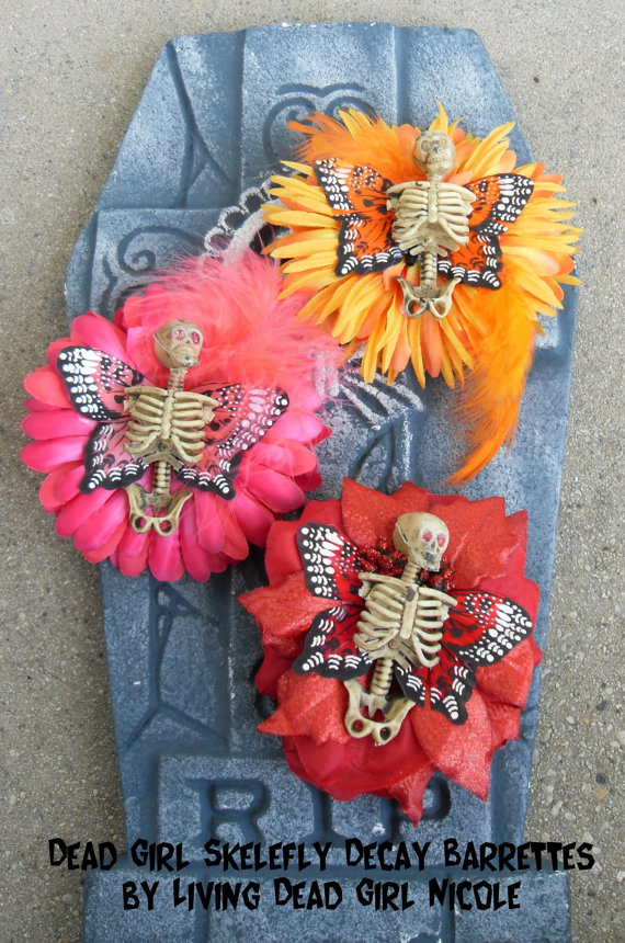 Skelefly Barrettes