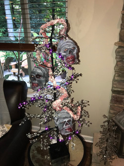 Zombie Garland On Client's Tree