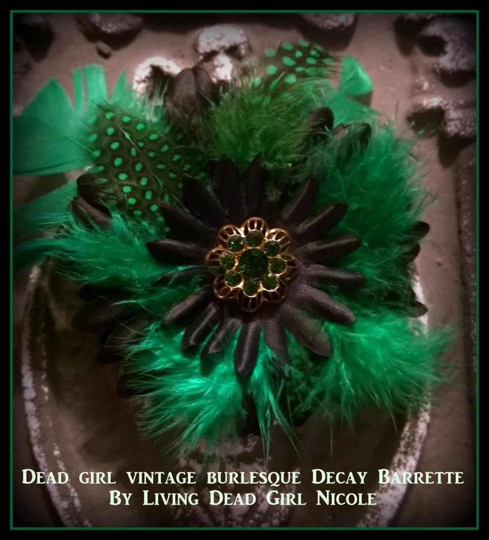 Vintage Burlesque Style Barrette
