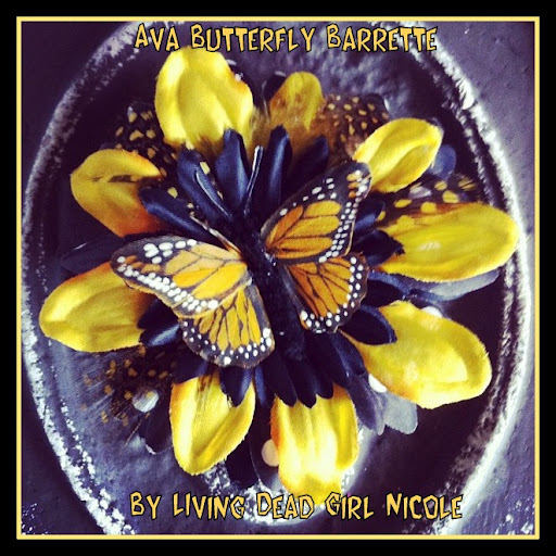 Butterfly Barrette for Photo Shoot