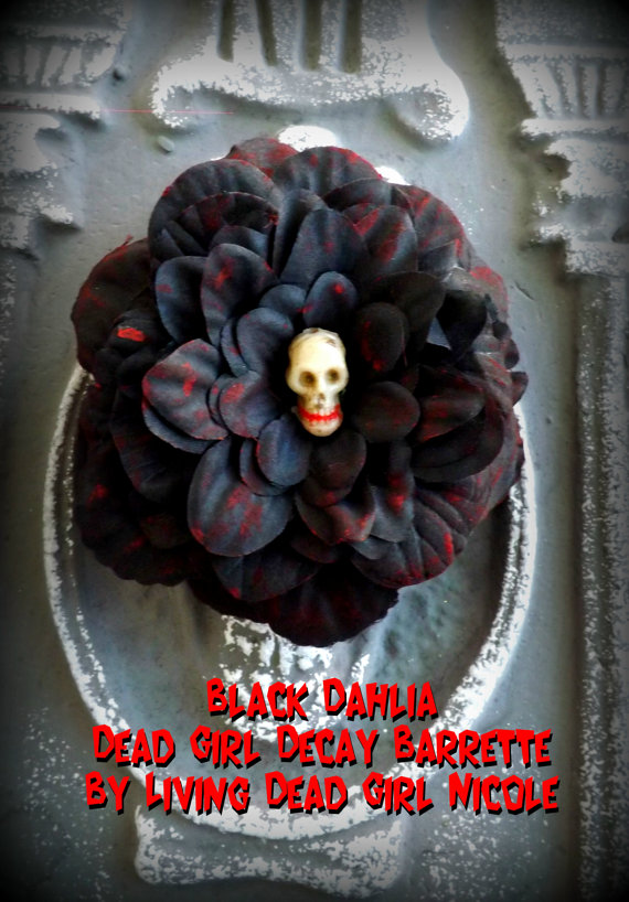 Black Dahlia Barrette
