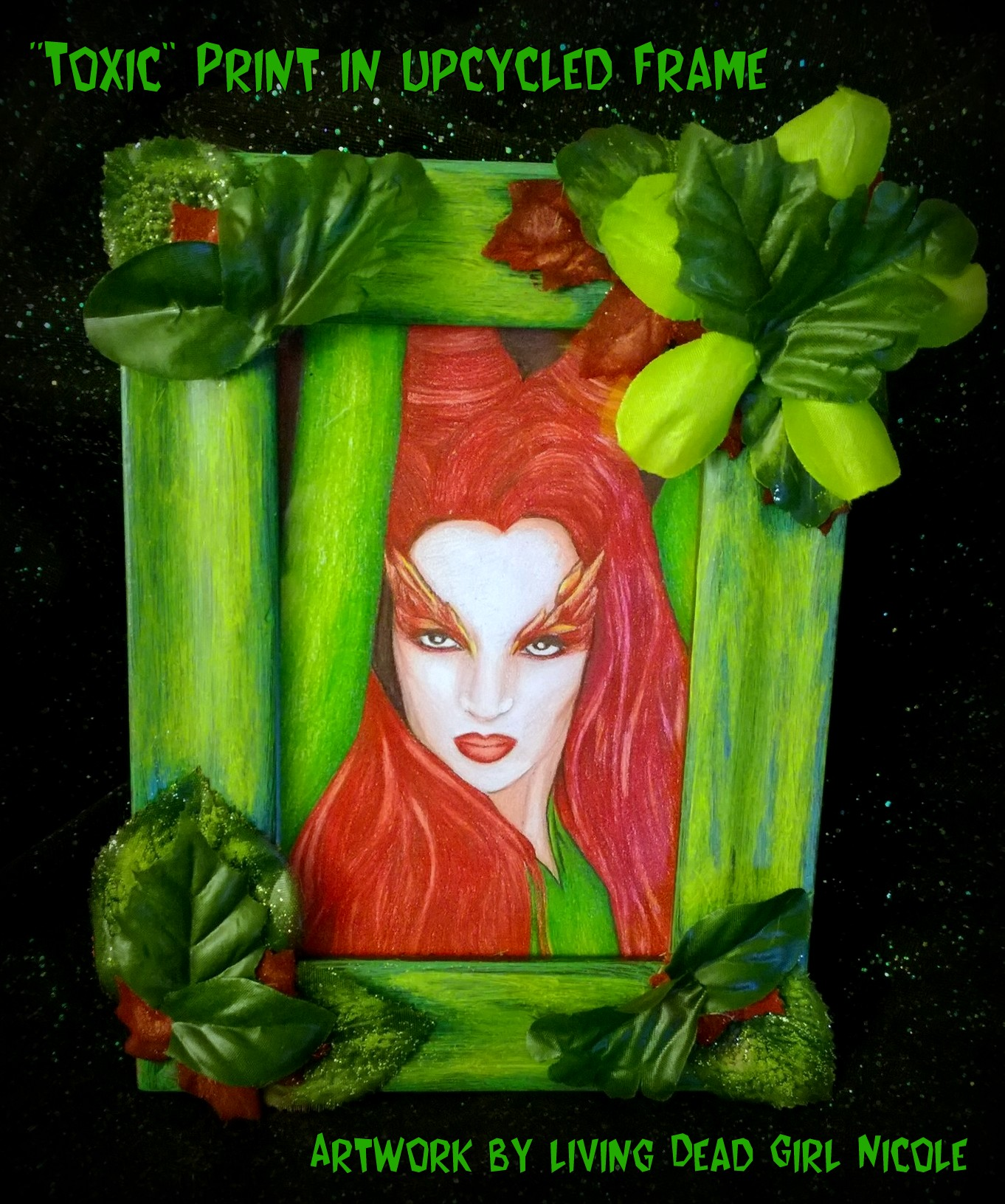 Poison Ivy in upcycled frame