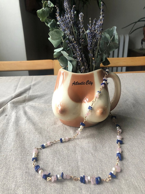One of a kind - Gemstone Face Mask or Eyeglass Necklace