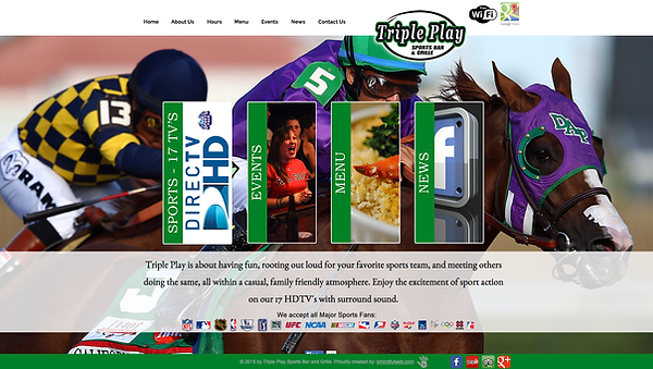 Triple Play Sports Bar and Grille Web Design