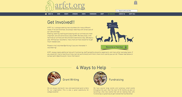 Web Design Animal Rescue