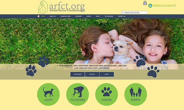 Local Animal Rescue Web Design