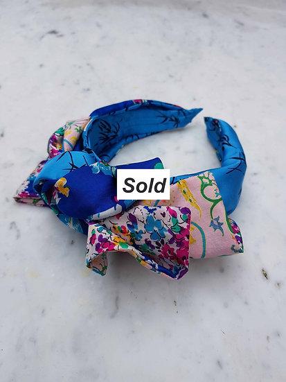 Blue Floral Headband