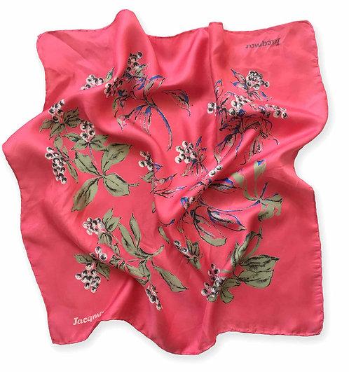 Pre 1970's Rouge Silk Square Neck Tie