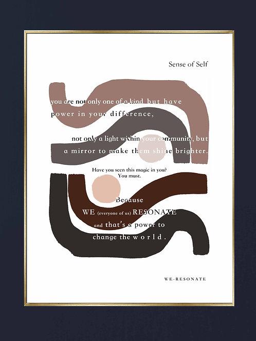 "Sense of Self Print 8"" x 10"" Unframed ~ BROWN"