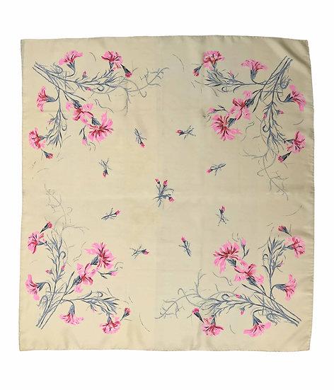 1950's Cream Floral