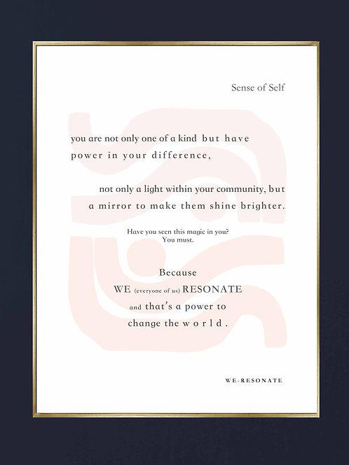"Sense of Self Print 8"" x 10"" Unframed ~ PALE"