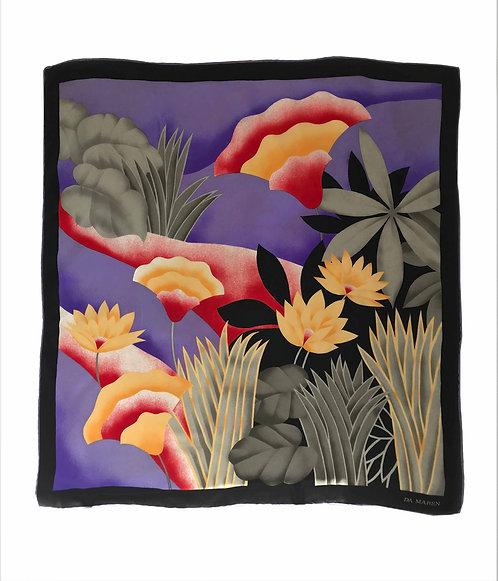 Botanical Da Maren Silk Scarf
