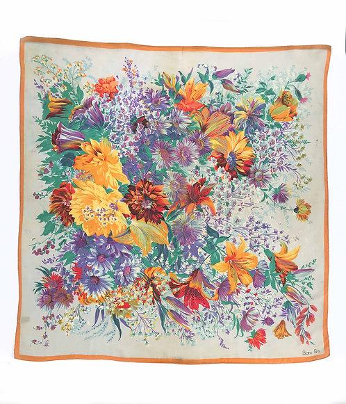 Blanc-Paris Floral Silk Scarf
