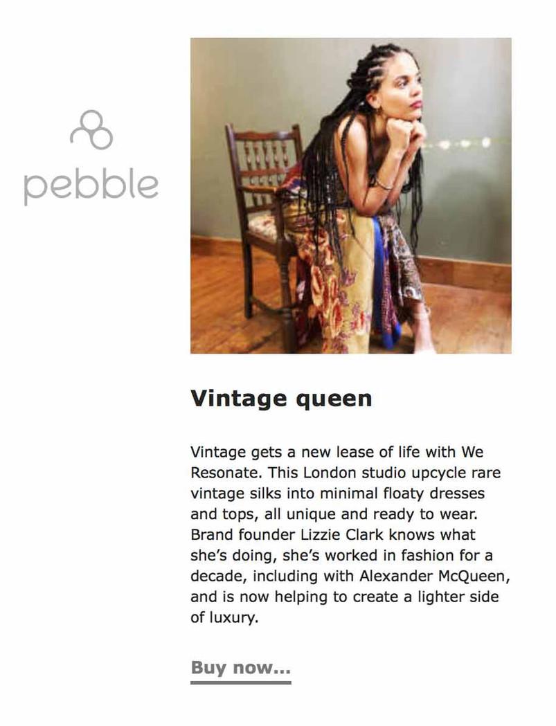 Pebble we resonate lust list