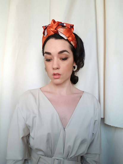 Rose Jacquard Headband